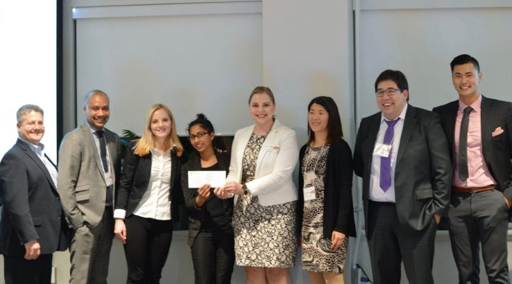 Group of MHI students winning prize