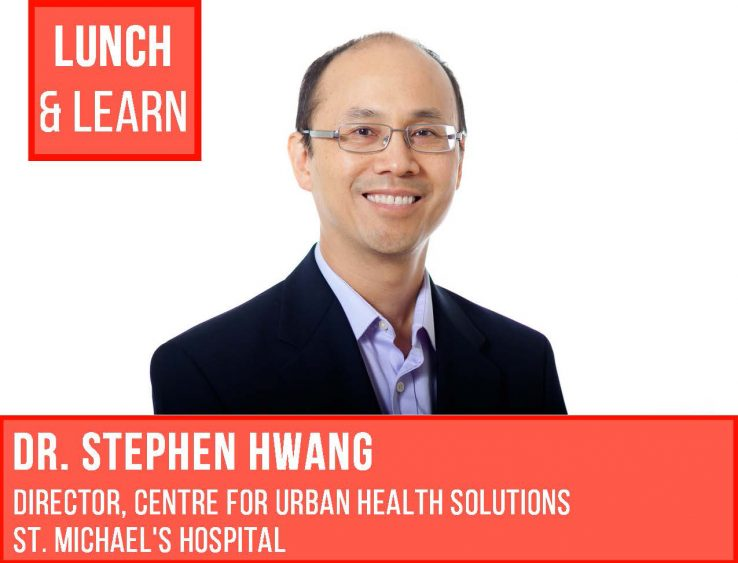 Lunch and Learn poster with Stephen Hwang profile