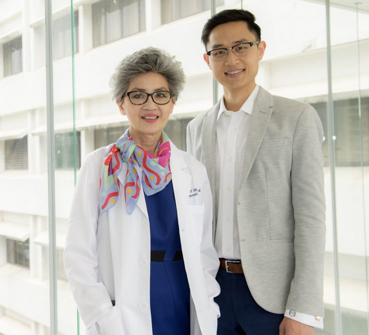 A photo of Dr. Juliana Chan left and PhD Student Calvin Ke right