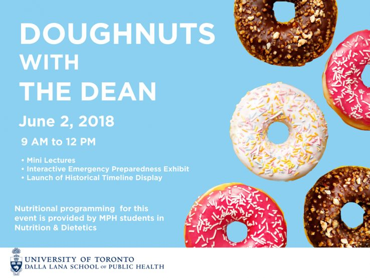 Blue background with doughnuts in foreground