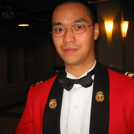 Profile of Andrew Lo in military uniform