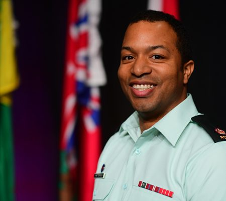 Terrance Patterson at the Robert Wood Johnson Award Ceremony on June 4th in St. Johns NFLD. Photo by Dan Harper