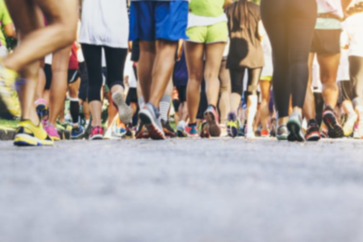 Marathon runners Crowd People race Outdoor Sport event Healthy lifestyle