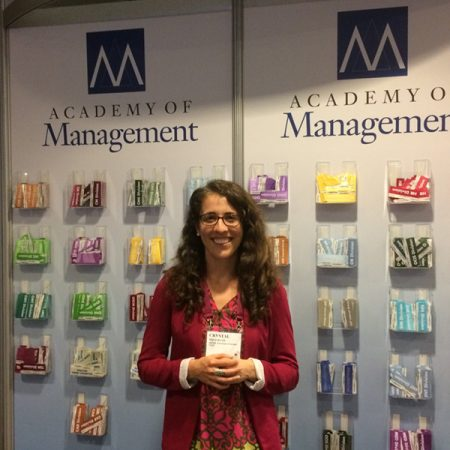 Crystal Milligan at the Academy of Management Annual Meeting. Photo courtesy of Crystal Milligan.
