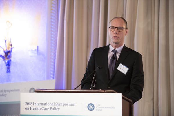 Walter Wodchis speaking at the The Commonwealth Fund's 21st International Symposium