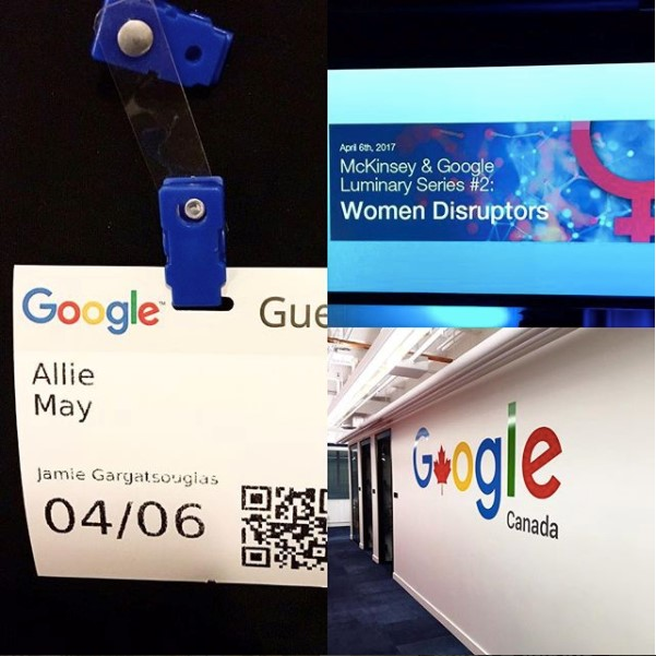 Name tags for Google Conference of Women Disruptors