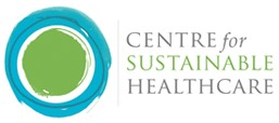 Centre for Sustainable Healthcare Logo with green and blue circle