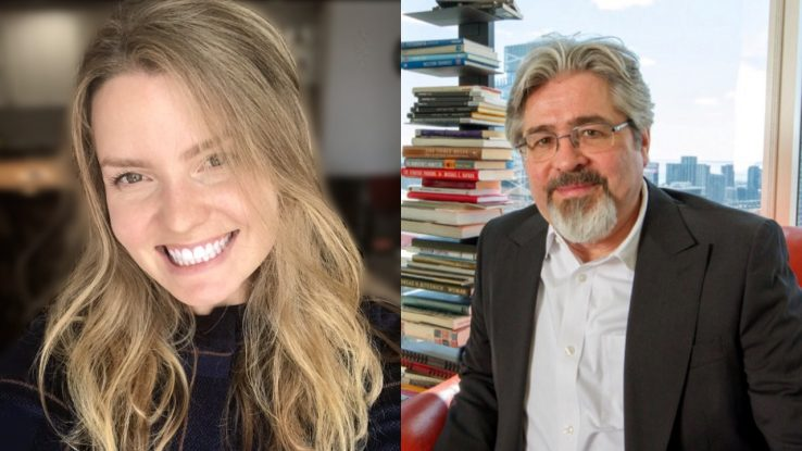 left to right: PhD candidate Katherine Zagrodney and Dr. Ted Witek