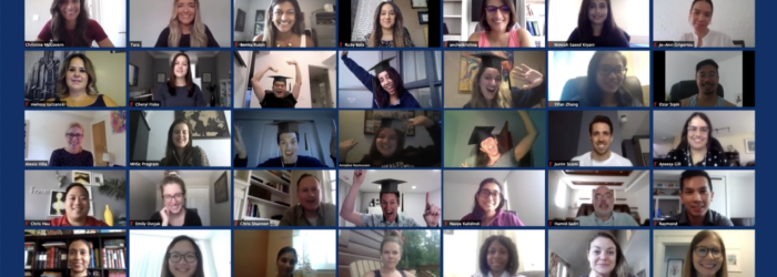 Screenshot of students in an online classroom